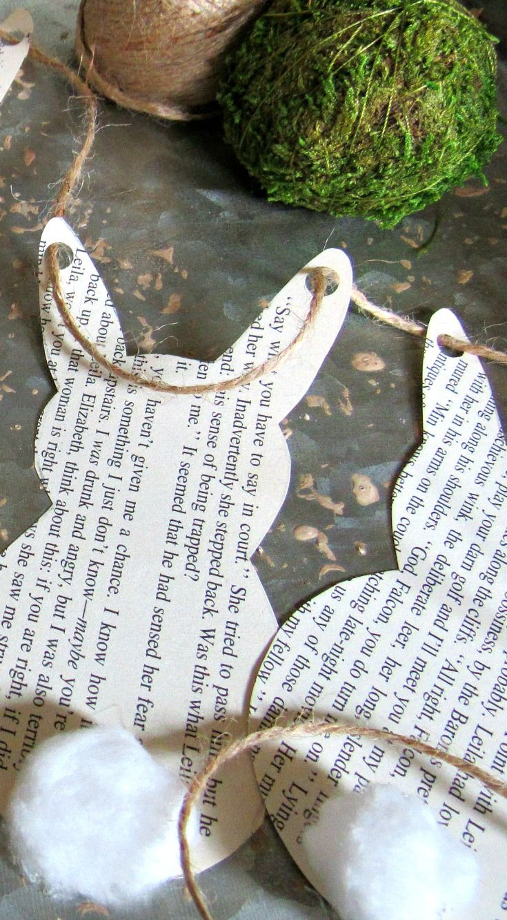 A simple book page bunny garland project using supplies you probably already have on hand.
