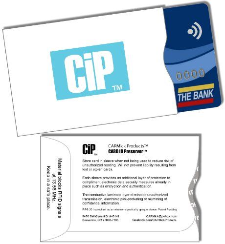 Credit Card Holders; 10 Pack; RFID Blocking Sleeves for Your Credit, Debit, ATM, ID, Common Access (or CAC)