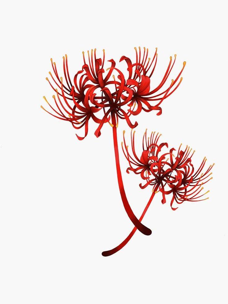 Red spider lilly tokyo ghoul sticker by nienkestr