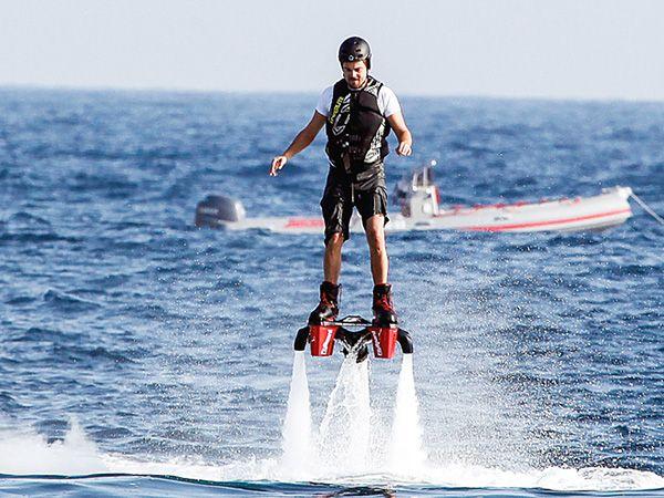 Leonardo DiCaprio Soars High Above the Waves