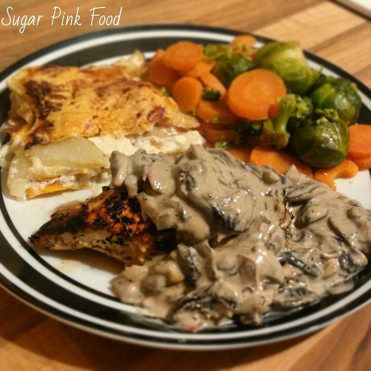 Sugar Pink Food: Slimming World Recipe:- Pan Friend Chicken Breast with Creamy Mushroom Sauce