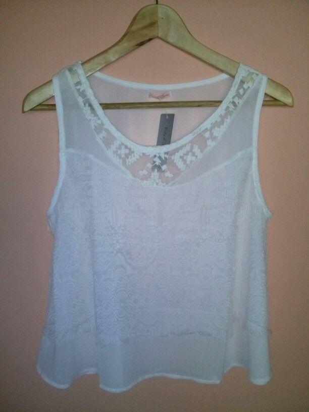 Blusa gasa color blanco $5.900