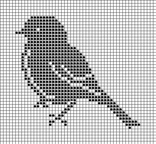 Filet crochet, bird, crochet patterns, free, dolies, hat, crocheting, crochet charts and motifs - www.free-crochet-patterns.rucniprace.cz