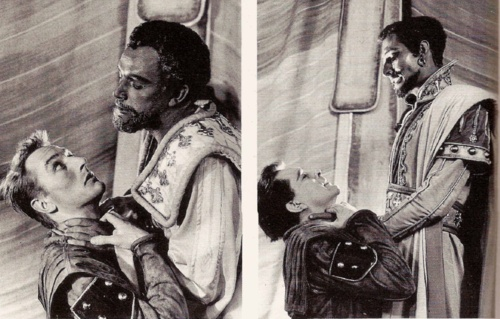 March, 1956: Richard Burton is currently alternating the parts of Iago and Othello with John Neville on successive nights at the Old Vic.