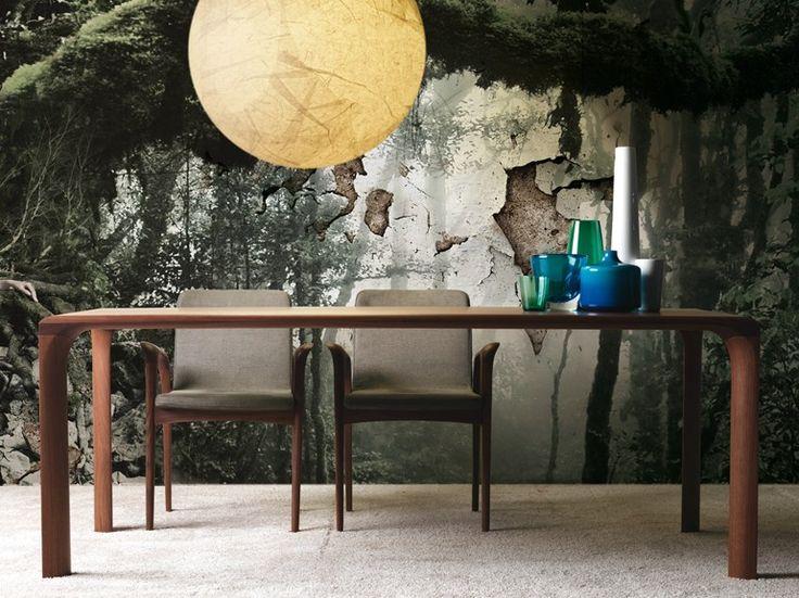 Tavolo da pranzo rettangolare in noce Collezione Sintesi by LINFA DESIGN | design Claudio Lovadina