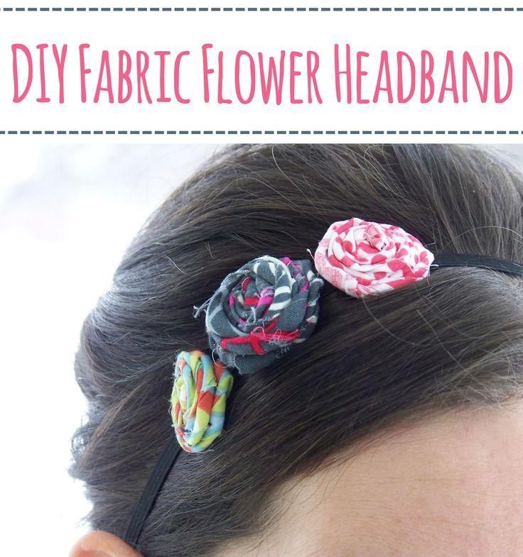 I wanna make this with geeky fabric - DIY Fabric Flower Headbands – Mary Martha Mama- How to make a twisted flower headband