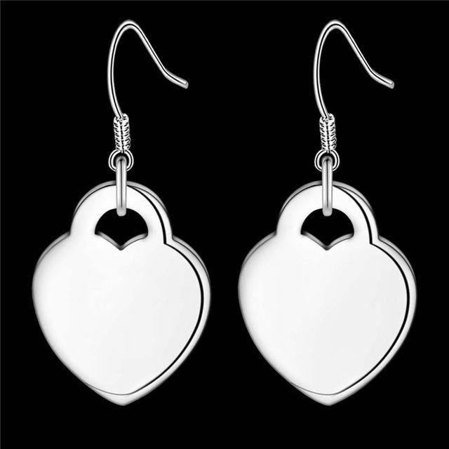 Nueva Llegada Pendientes de Gota Del Corazón de Joyería de Moda Pendientes de Plata de ley para Las Mujeres Regalo de Navidad Brincos Bijoux Precio de Fábrica