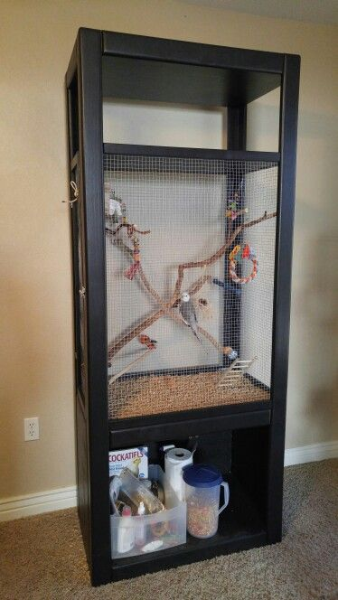 ? Pet Bird Cage Ideas ? DIY Cockatiel Cage (Pet Diy Ideas)