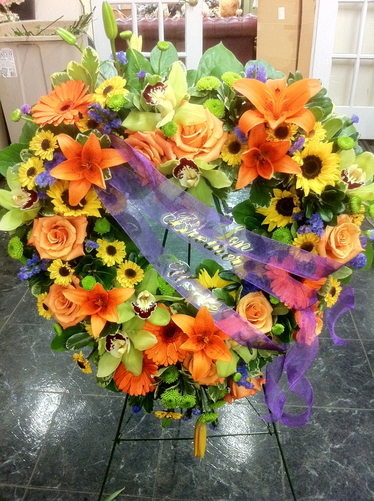 92 Best Arrangements Sympathy Images On Pinterest Funeral Flowers Sympathy Flowers And