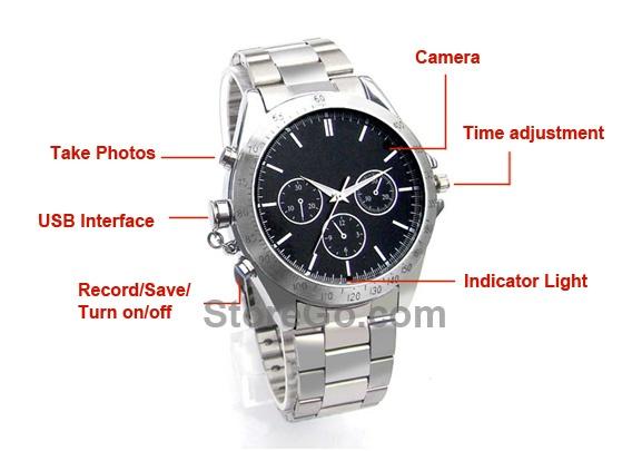 Wholesale DVW008 4GB Digital Video Recorder 640 x 480 Spy Camera Watch – DV Watches