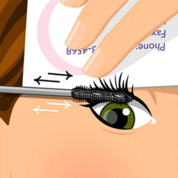 If you hold a business or credit card (not a usable one) up to your lashes when applying mascara, you can get the mascara all the way to the very root of your lashes and keep the mascara from getting on your eyelid. This helps you to have a more professional makeup look and ensures that your lashes will be colored perfectly all the way to the base.