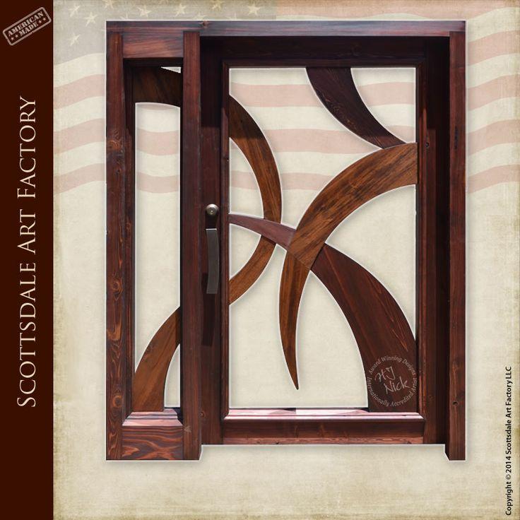 Modern design handcrafted custom wood doors handmade in - Wooden and glass door designs ...