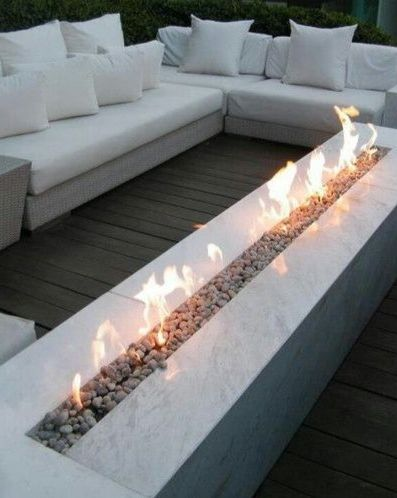 | P | Outdoor linear fireplace