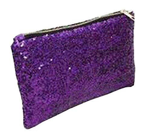 New Trending Make Up Bags: Women Fashion Dazzling Sequins Zipper Clutch Evening Party Bag (Purple). Women Fashion Dazzling Sequins Zipper Clutch Evening Party Bag (Purple)   Special Offer: $4.50      400 Reviews What You Get: 1 x Clutch Bag Size Width: 6.3″/16cm Length: 9.84″ /25cm Thickness: 2.36″ /6cm Attention: Due to the different displays of the computers, the...