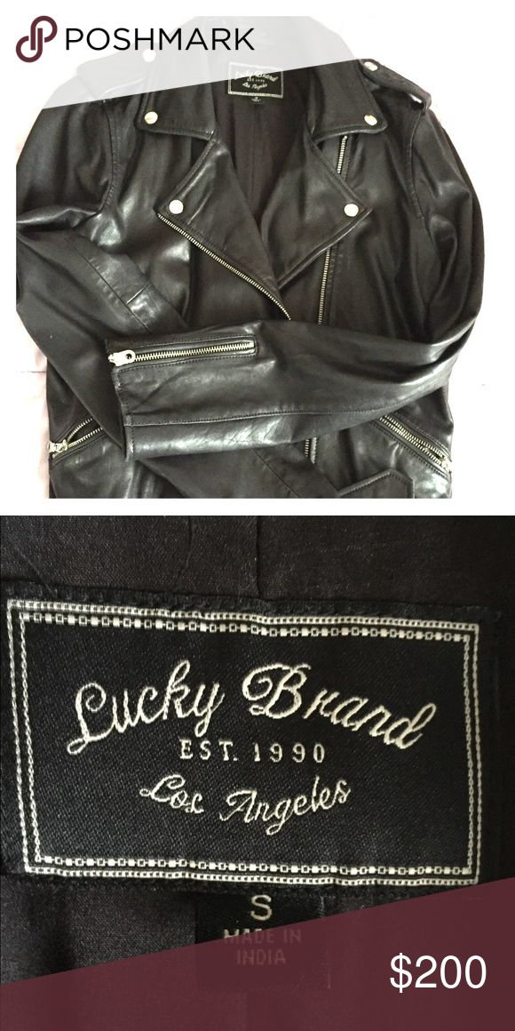 NEW w/o tags ...Lucky brand leather jacket New lucky brand women's leather jacket Jackets & Coats Utility Jackets