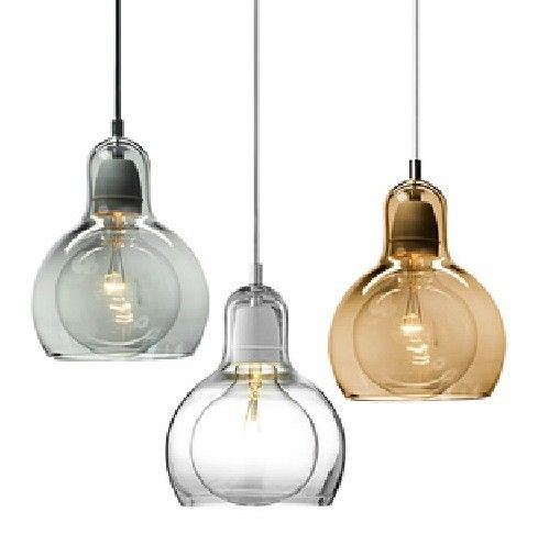 "Mega BULB modern glass art  Pendant light for home glass sculpture design dinning or study room (7""dia x 9""H"")-in Pendant Lights from Lights..."