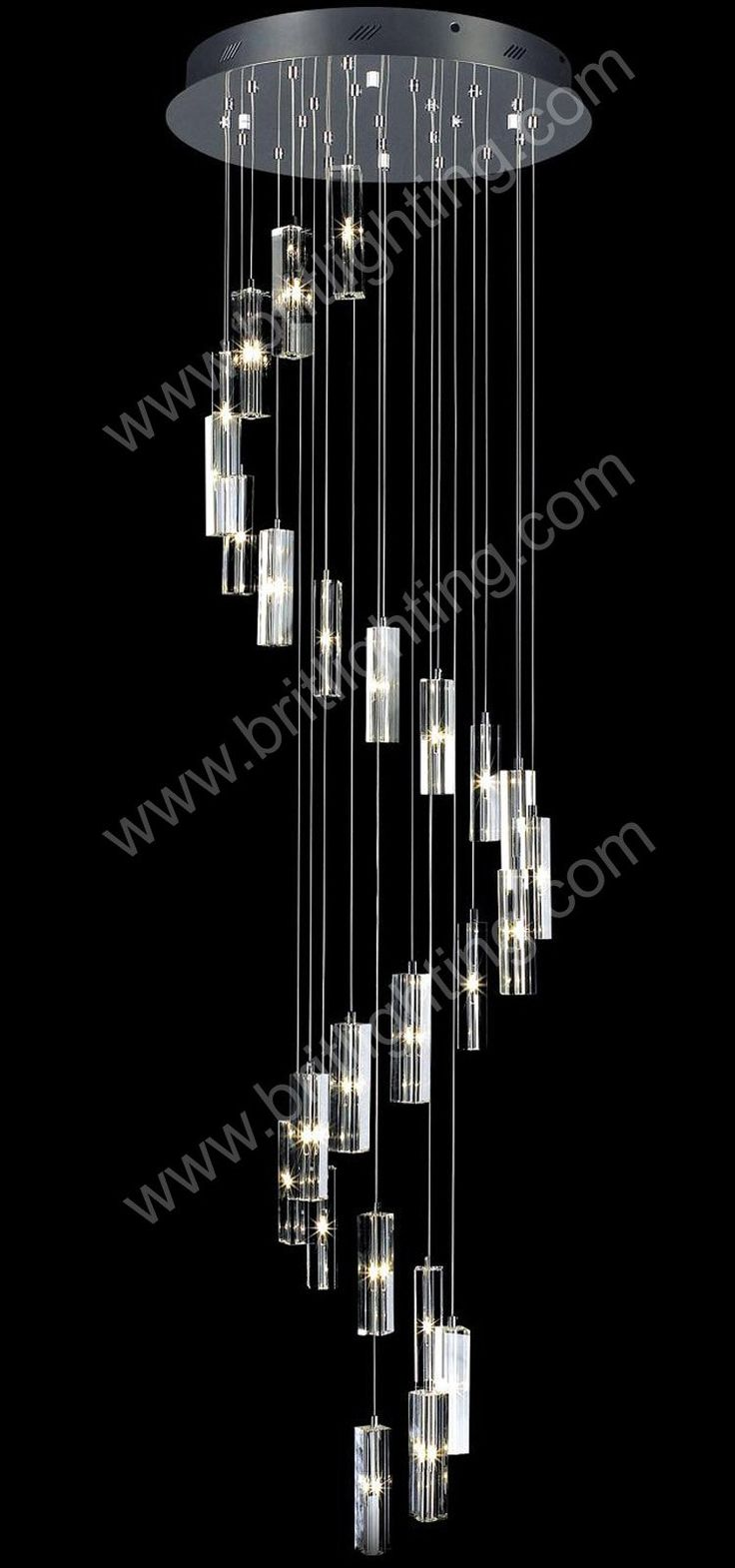 stepwise chandeliers 25 light Modern Spiral Chandelier use for stair well  drop light Spiral Crystal chandelier light US $265.00