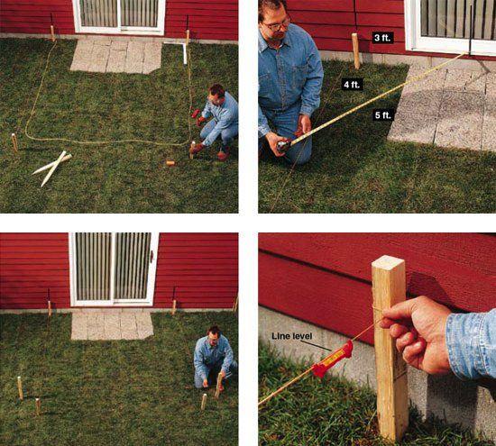 diy concrete patio layout - Ideen Fr Kleine Hinterhfe Ohne Gras