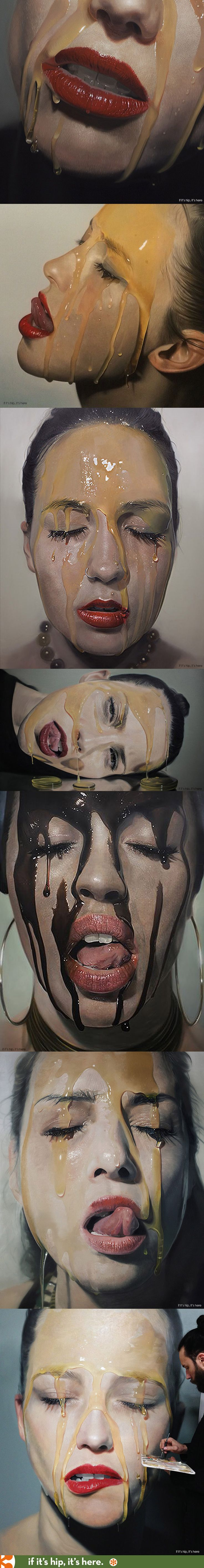 The seductive hyper-realistic oil paintings of Mike Dargas.