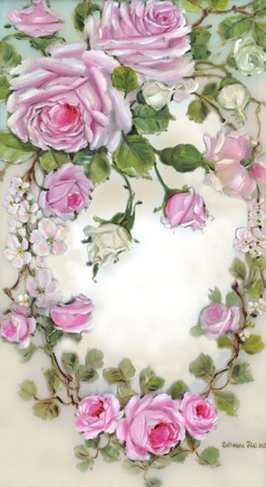 Романтические розы в живописи Catherine Risi. Обсуждение на LiveInternet - Российский Сервис Онлайн-Дневников