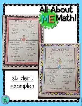 ALL ABOUT ME MATH! - TeachersPayTeachers.com
