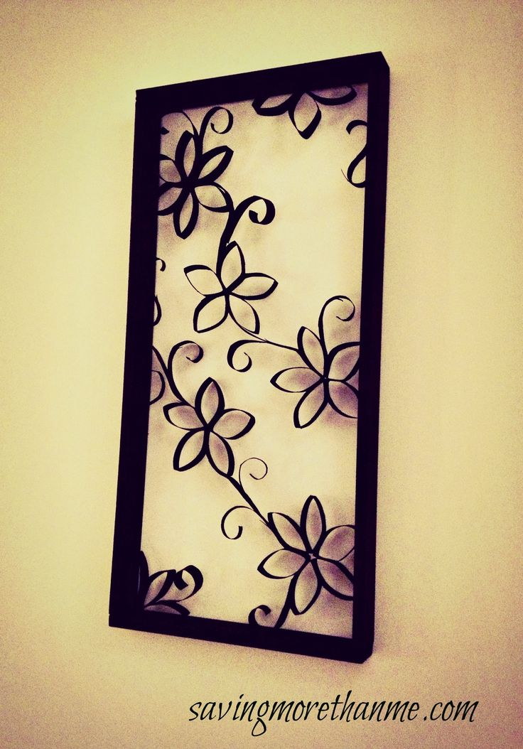 This is adorable! It's made with Toilet Paper and Paper Towel rolls! I'm going to make some for my wall! diy wall decor #crafts #recycling #homedecor Love that it has the frame around it! so much classier