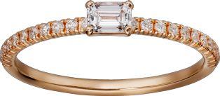 Etincelle de Cartier ring Pink gold, diamonds