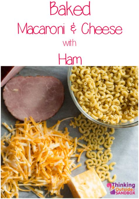 Mac and Cheese with Ham: a homestyle favourite made simple. Click for easy printing recipe card.