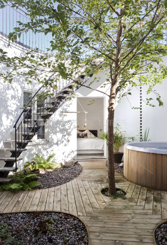 Patio Outdoor Living Area Design with or without the Hot tub area