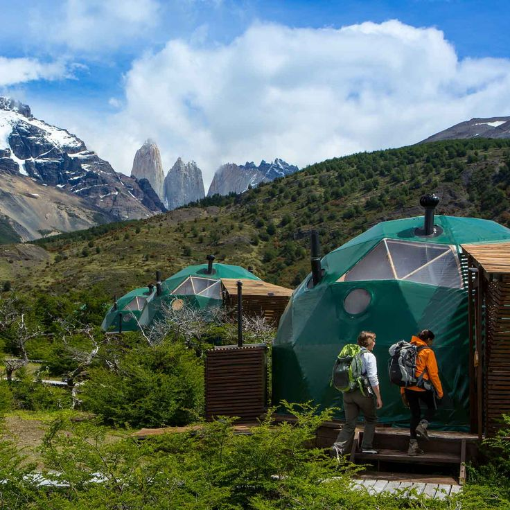 Suite domes in the heart of Torres del Paine National Park, #Chile #Travel #Patagonia