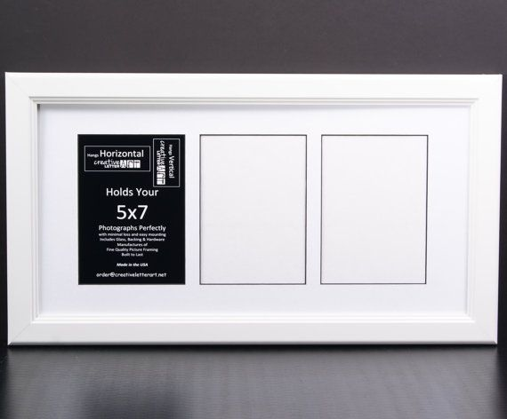 5x7 Multi 3 4 5 6 7 8 9 10 Opening White Picture Frames to