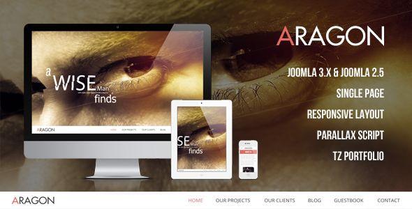 Aragon - Parallax Responsive Joomla Template