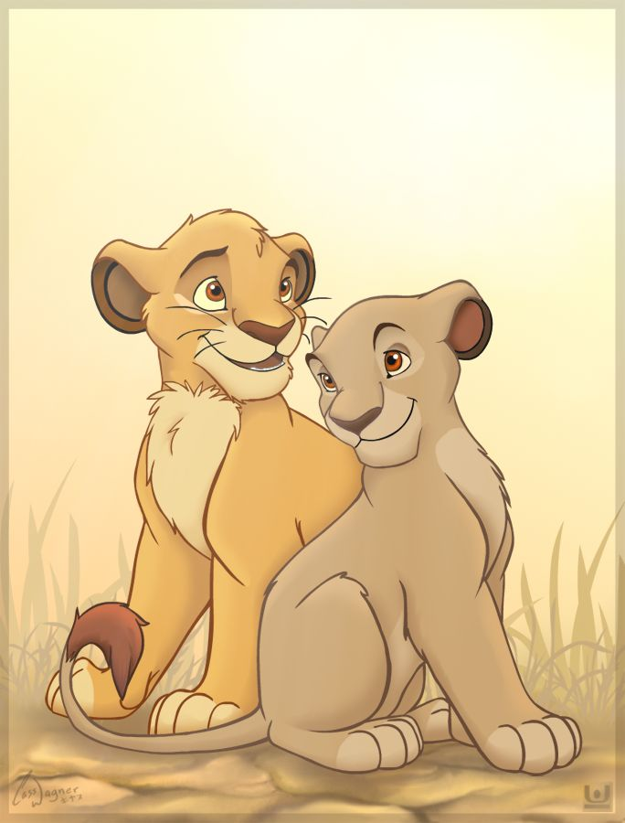 Cub Mufasa and Sarabi by charfade.deviantart.com on @deviantART