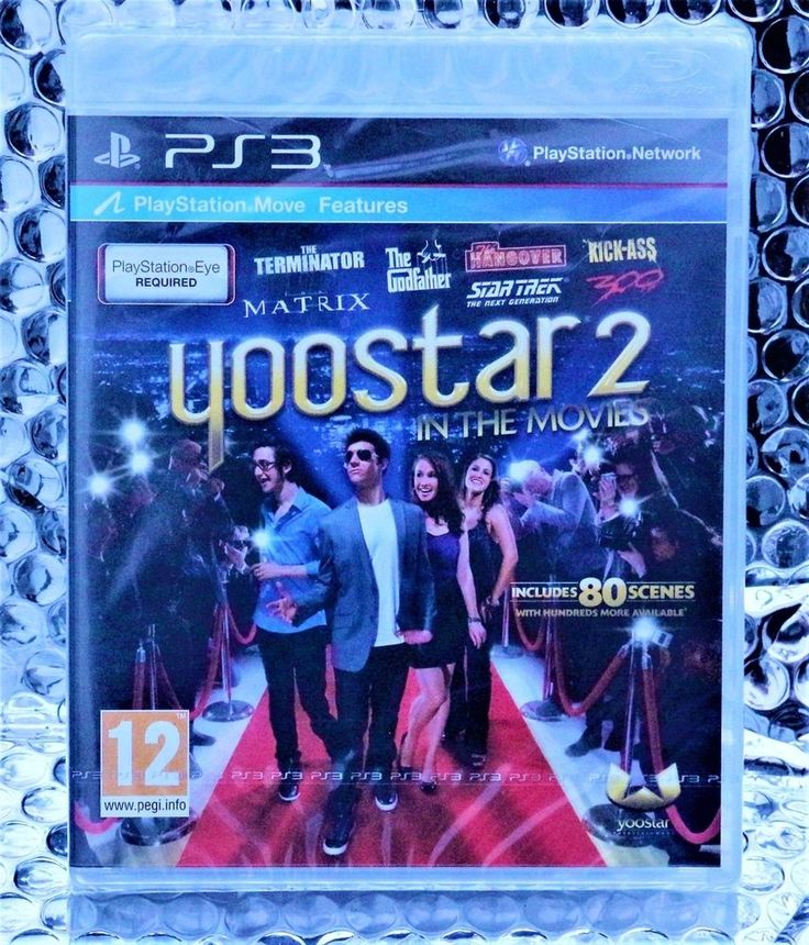 PS3 YOOSTAR 2 IN THE MOVIES GAME BRAND NEW & SEALED FOR USE WITH PLAYSTATION EYE