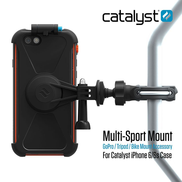 Catalyst Multi-Sport Mount. Attach your iPhone to your bike or tripod. allows you to get that perfect shot no matter what the sport. Compatible with Go-Pro mounts