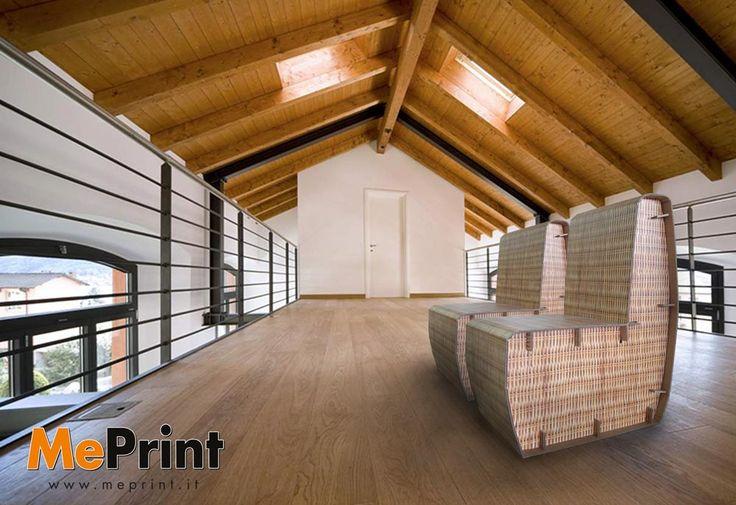 Un altro esempio di #arredo con una coppia di sedie in #cartone stampate con #meprint - www.meprint.it - http://www.meprint.it/arredamento/150/sedia-wicker.html