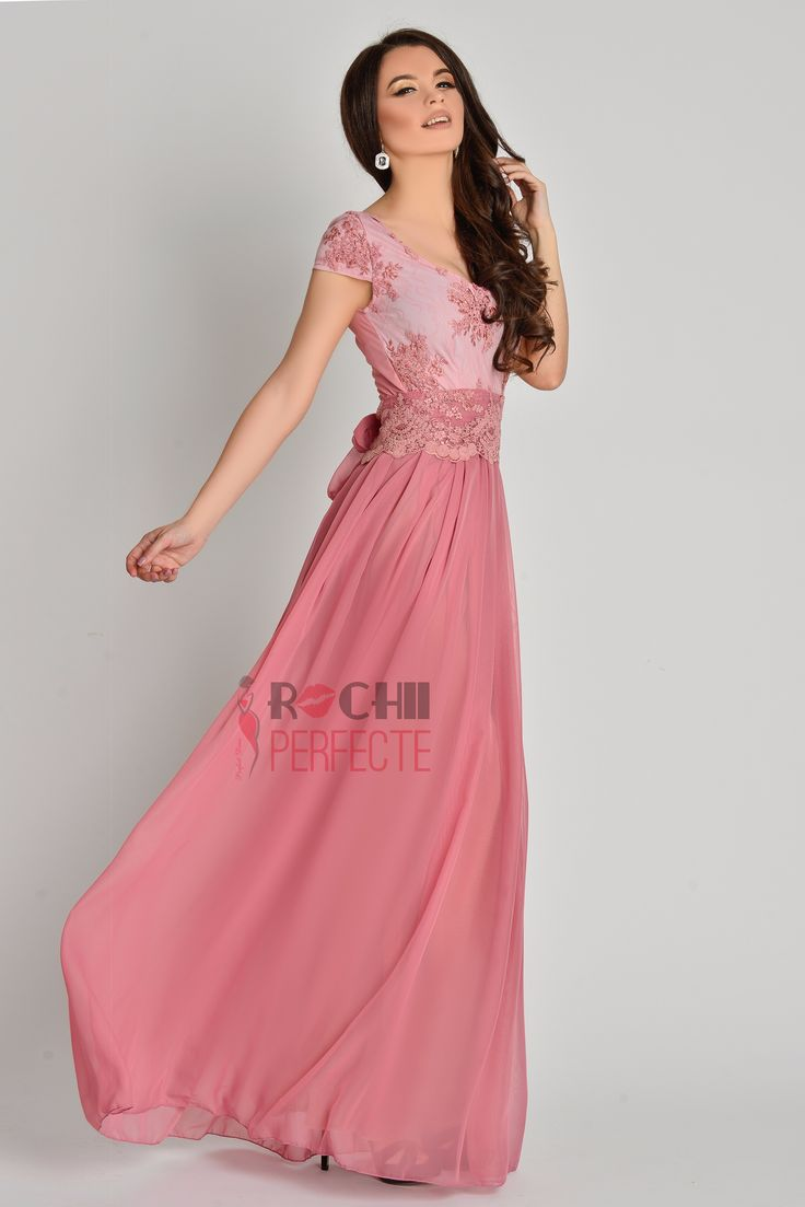 Dusty pink beautiful long dress