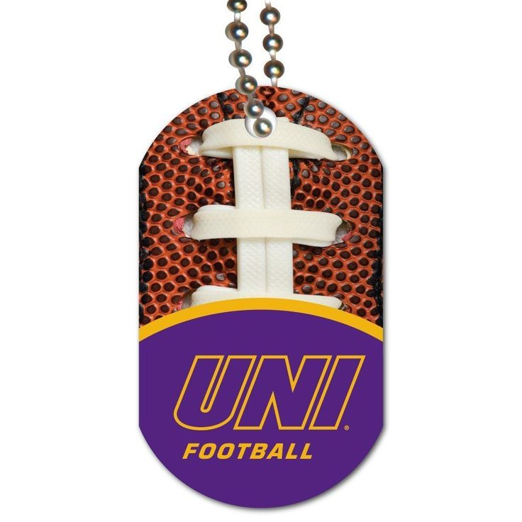 University of Northern Iowa Dog Tag Set of 3 - Football