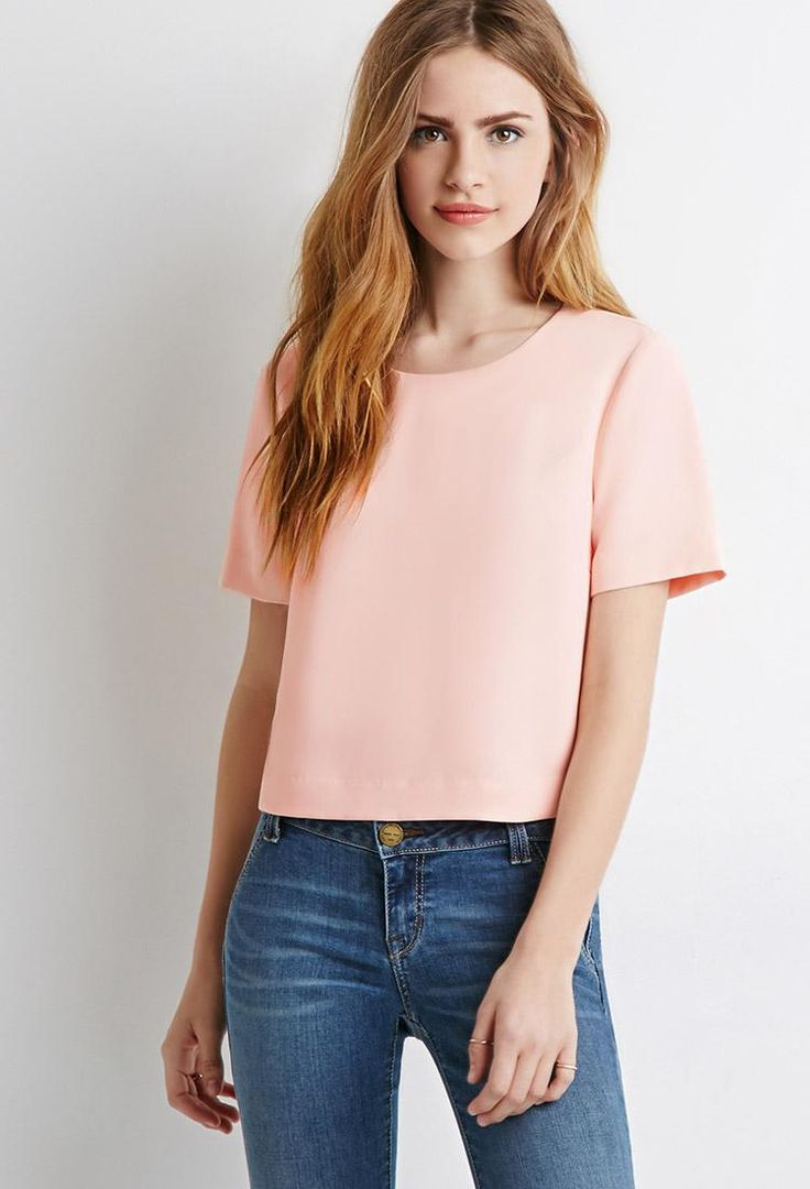 Office Casual: What to Wear With Jeans - Classic Crepe Blouse, $17.90; at Forever 21