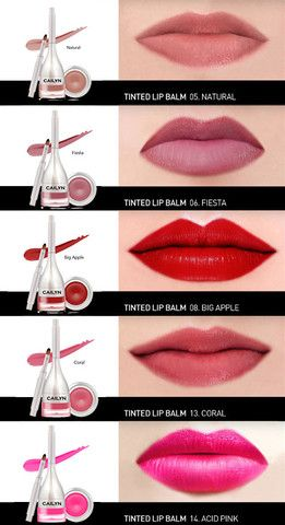 Cailyn Tinted Lip Balm: 3D smart film former + long lasting + high impact colours + built-in brush