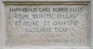 Casa Annibal Caro scritta ingresso