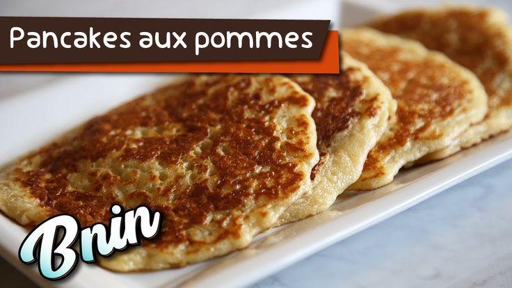 Pancakes aux pommes  Ingrédients:   100 g farine 100 g Fromage crémeux 60 g de lait sans matières grasses Sac de levure chimique 20 g de sucre Oeufs Sel  Pour trouver plus de recettes suivez-nous sur les pages suivantes: http://ift.tt/2yd9a4t http://ift.tt/2g9SvZn goo.gl/FLQPjX