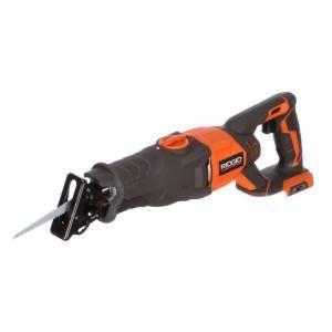 RIDGID Sawzall  http://www.homedepot.com/p/RIDGID-X4-18-Volt-Cordless-Reciprocating-Saw-Console-Tool-Only-R8641B/203159655
