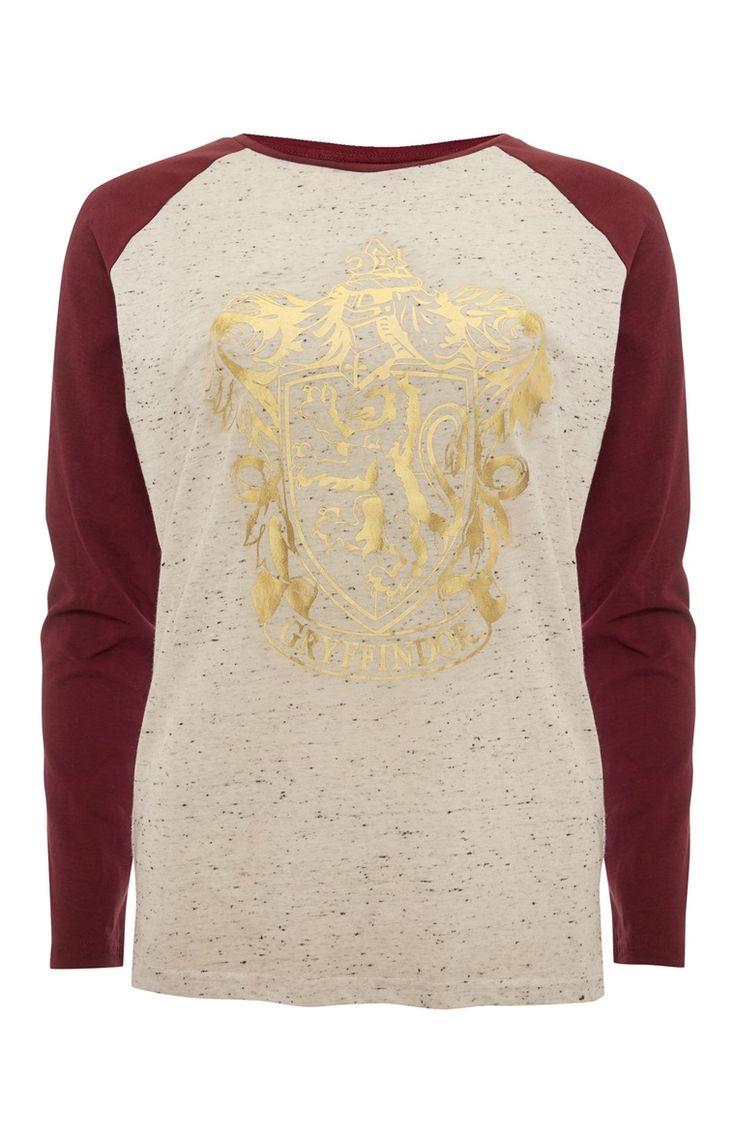 Primark - Rood Harry Potter-shirt met raglanmouwen