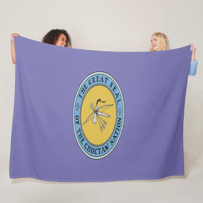 Choctaw Flag Fleece Blankets Zazzle Com In 2020 Fleece Blanket Choctaw Winter Cozy
