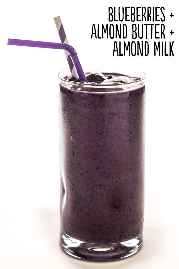 Almond Butter Blueberry Smoothie Blueberry Almond Smoothie