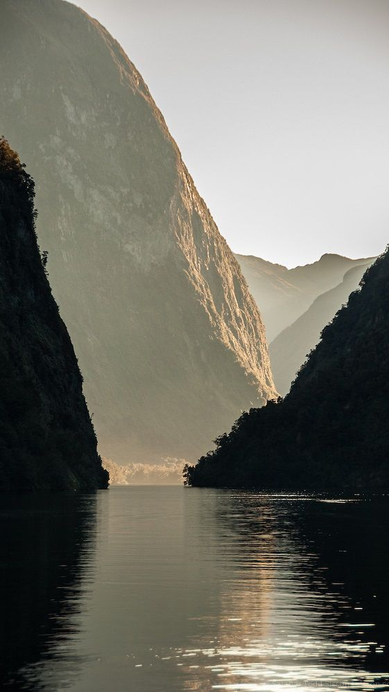 Doubtful Sound, South Island, New Zealand. I want to canoe here. And sing just around the river bend.