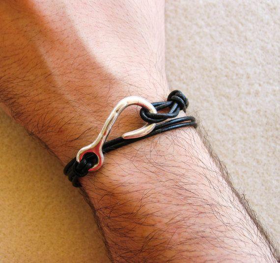 Hook Wrap Bracelet Men's Bracelet Women's by totalhandmadeD, $17.00