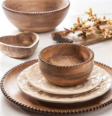 GG Collection Antiquity Wood Beaded Chargers SHOP .crownjewel.design & 23 best GG Collection Dinnerware images on Pinterest | Cutlery ...