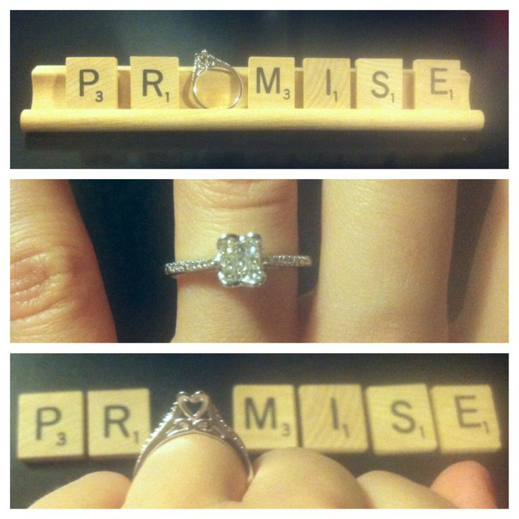 Someone you when do a ring give promise Creative Ways